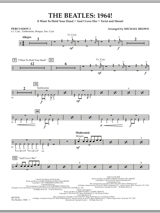 The Beatles - 1964! - Percussion 2 (Concert Band)