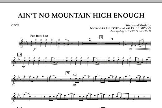 Ain't No Mountain High Enough - Oboe (Concert Band)