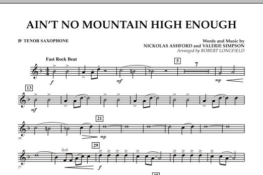 Ain't No Mountain High Enough - Bb Tenor Saxophone (Concert Band)