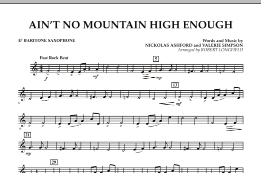 Ain't No Mountain High Enough - Eb Baritone Saxophone (Concert Band)