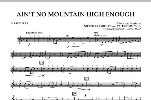 Ain't No Mountain High Enough - Bb Trumpet 1 (Concert Band)