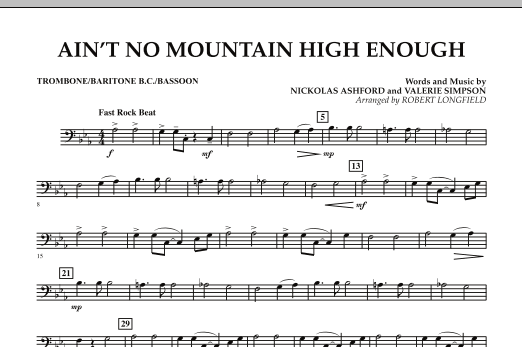 Ain't No Mountain High Enough - Trombone/Baritone B.C./Bassoon (Concert Band)