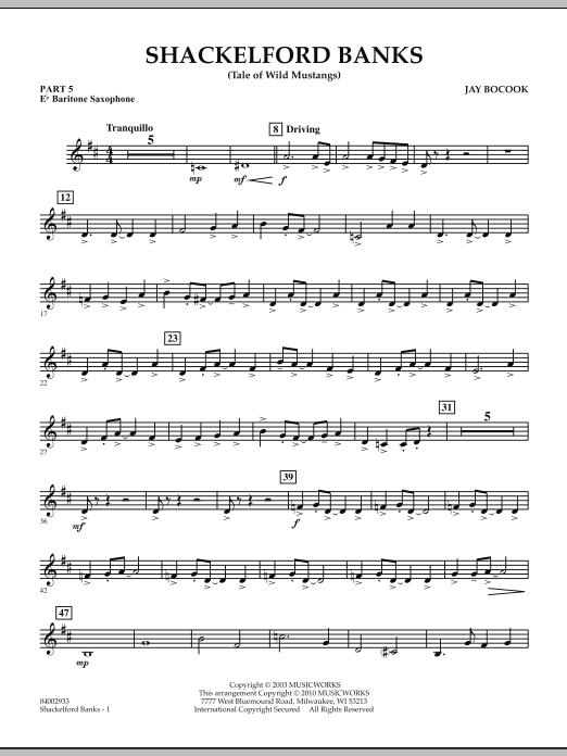 Shackelford Banks (Tale of Wild Mustangs) - Pt.5 - Eb Baritone Saxophone (Concert Band: Flex-Band)