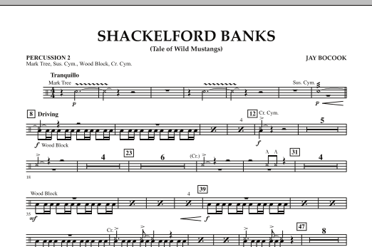 Shackelford Banks (Tale of Wild Mustangs) - Percussion 2 (Concert Band: Flex-Band)