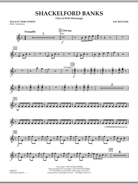 Shackelford Banks (Tale of Wild Mustangs) - Mallet Percussion (Concert Band: Flex-Band)