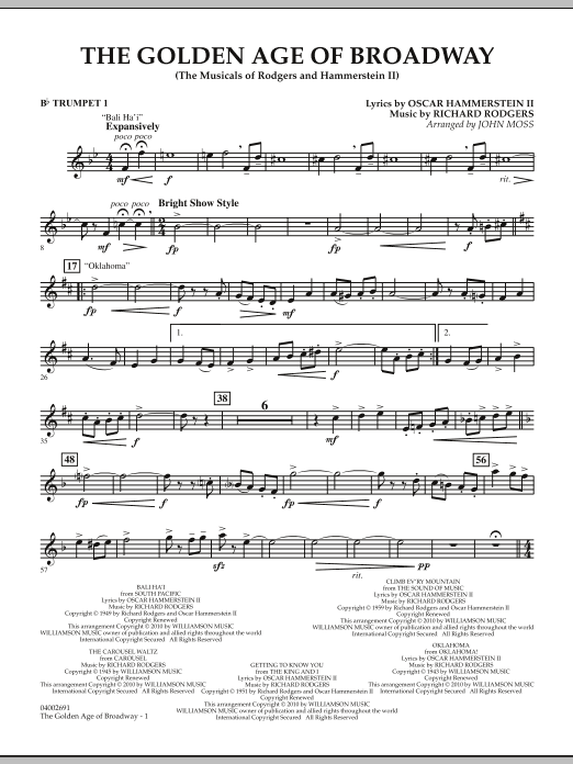 The Golden Age Of Broadway - Bb Trumpet 1 (Concert Band)