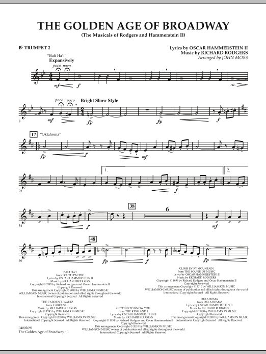 The Golden Age Of Broadway - Bb Trumpet 2 (Concert Band)