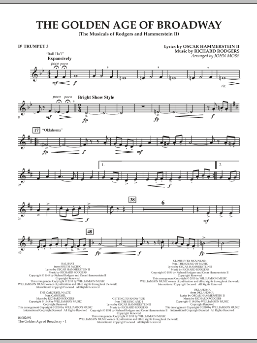 The Golden Age Of Broadway - Bb Trumpet 3 (Concert Band)