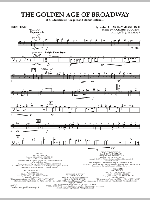 The Golden Age Of Broadway - Trombone 1 (Concert Band)