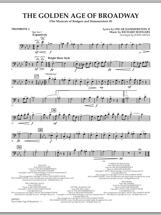 The Golden Age Of Broadway - Trombone 2 (Concert Band)