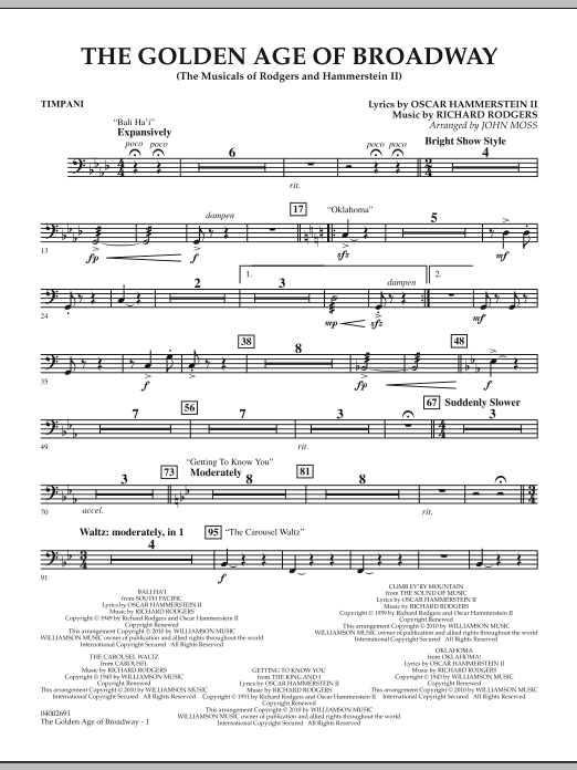 The Golden Age Of Broadway - Timpani (Concert Band)
