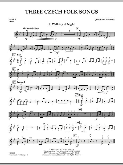 Three Czech Folk Songs - Pt.1 - Violin (Concert Band)