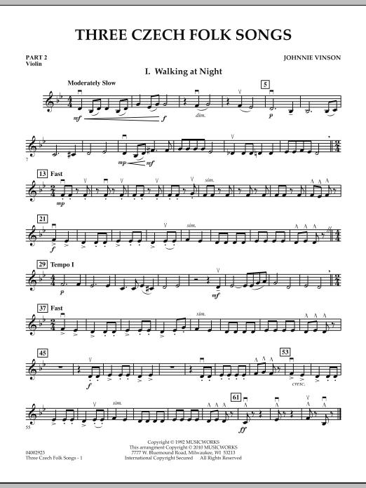 Three Czech Folk Songs - Pt.2 - Violin (Concert Band)