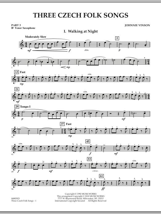 Three Czech Folk Songs - Pt.3 - Bb Tenor Saxophone (Flex-Band)