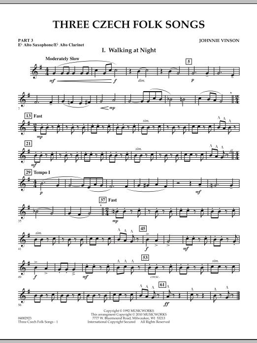 Three Czech Folk Songs - Pt.3 - Eb Alto Sax/Alto Clar. (Concert Band)