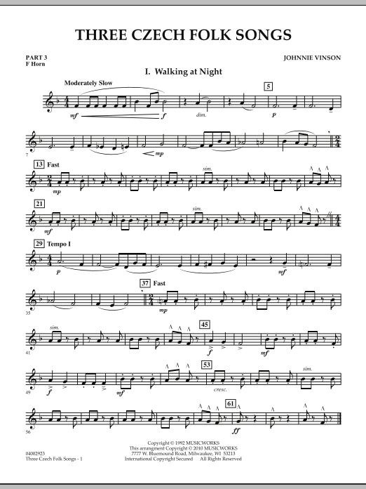 Three Czech Folk Songs - Pt.3 - F Horn (Concert Band)