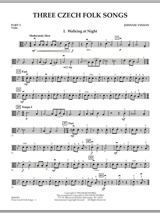 Three Czech Folk Songs - Pt.3 - Viola (Flex-Band)