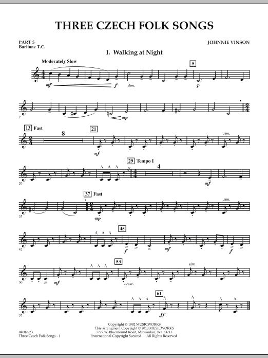 Three Czech Folk Songs - Pt.5 - Baritone T.C. (Concert Band)