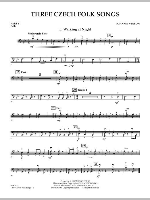 Three Czech Folk Songs - Pt.5 - Cello (Flex-Band)