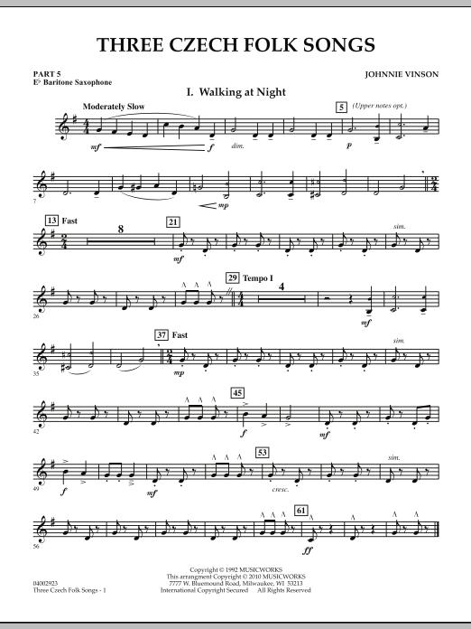 Three Czech Folk Songs - Pt.5 - Eb Baritone Saxophone (Concert Band)