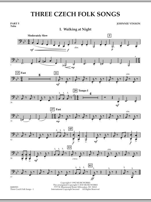 Three Czech Folk Songs - Pt.5 - Tuba (Concert Band: Flex-Band)
