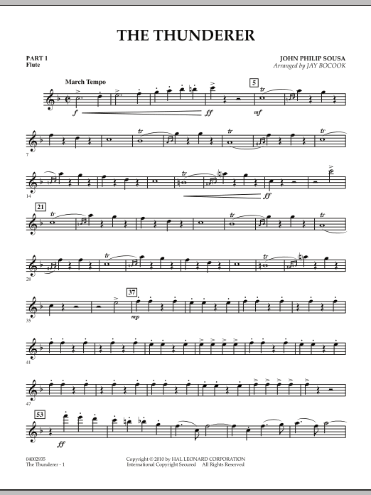 The Thunderer - Pt.1 - Flute (Concert Band: Flex-Band)