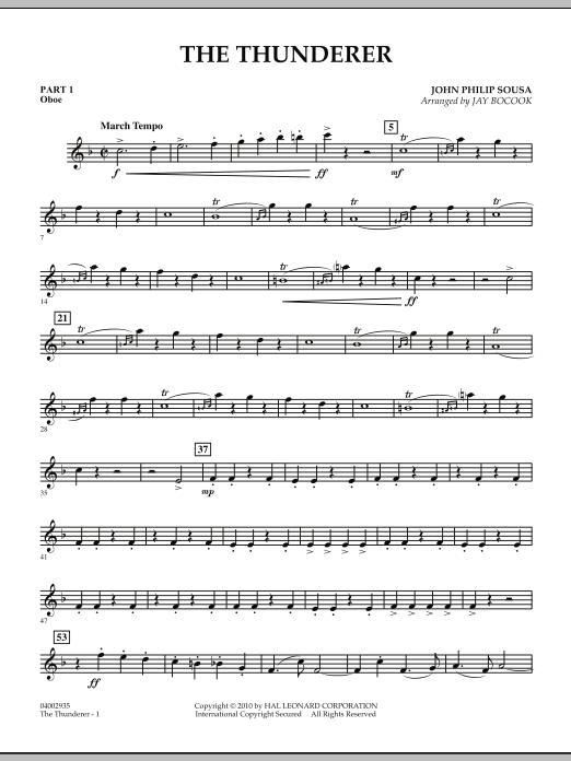 The Thunderer - Pt.1 - Oboe (Concert Band: Flex-Band)