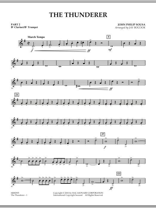 The Thunderer - Pt.2 - Bb Clarinet/Bb Trumpet (Concert Band: Flex-Band)