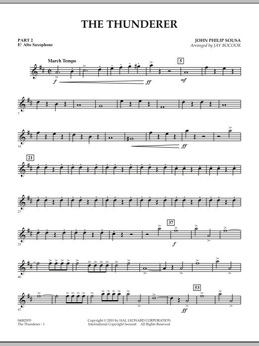 The Thunderer - Pt.2 - Eb Alto Saxophone (Concert Band: Flex-Band)