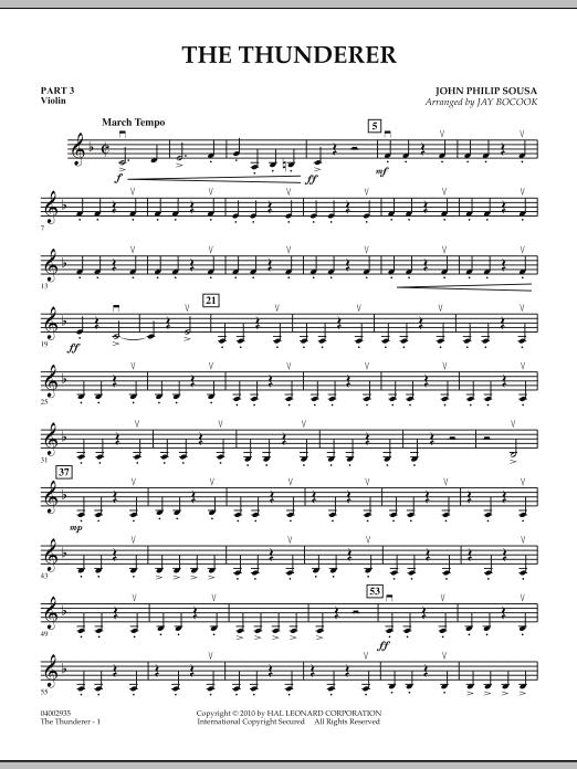 The Thunderer - Pt.3 - Violin (Concert Band: Flex-Band)