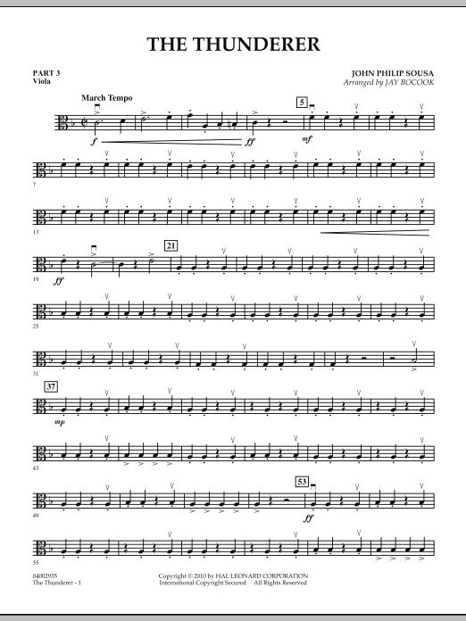 The Thunderer - Pt.3 - Viola (Concert Band: Flex-Band)