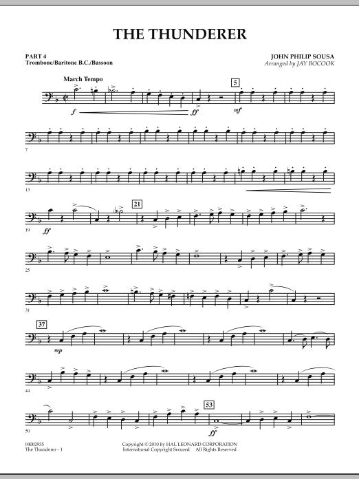 The Thunderer - Pt.4 - Trombone/Bar. B.C./Bsn. (Concert Band: Flex-Band)