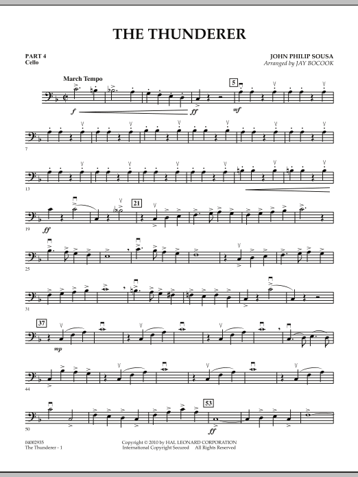 The Thunderer - Pt.4 - Cello (Concert Band: Flex-Band)