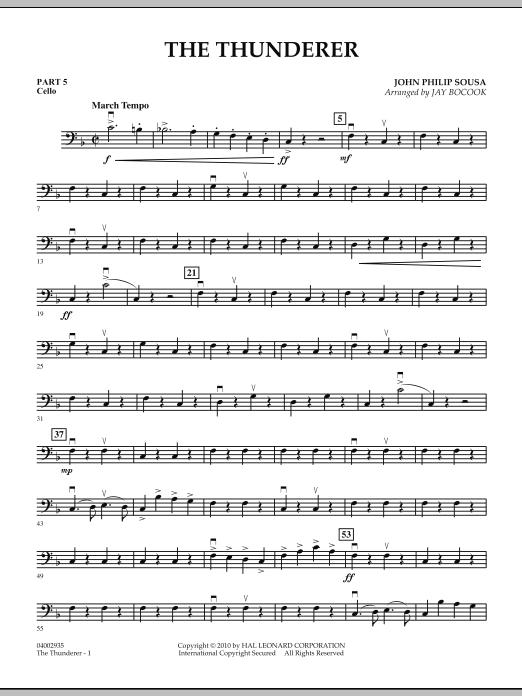 The Thunderer - Pt.5 - Cello (Concert Band: Flex-Band)