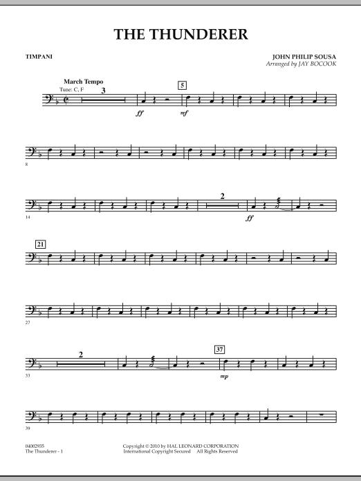 The Thunderer - Timpani (Concert Band: Flex-Band)