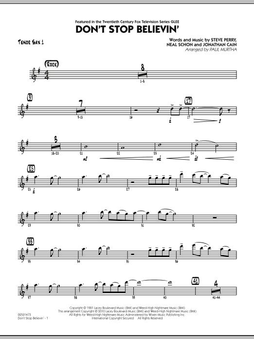 Don't Stop Believin' - Tenor Sax 1 (Jazz Ensemble)