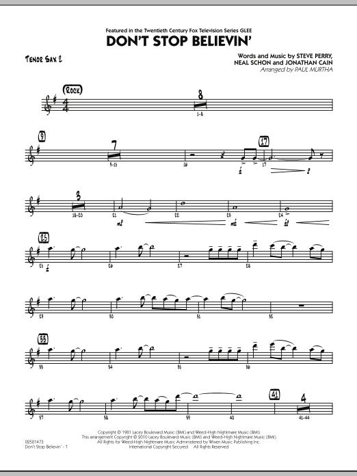 Don't Stop Believin' - Tenor Sax 2 (Jazz Ensemble)