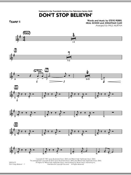 Don't Stop Believin' - Trumpet 4 (Jazz Ensemble)