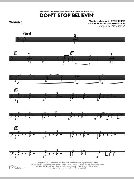 Don't Stop Believin' - Trombone 3 (Jazz Ensemble)