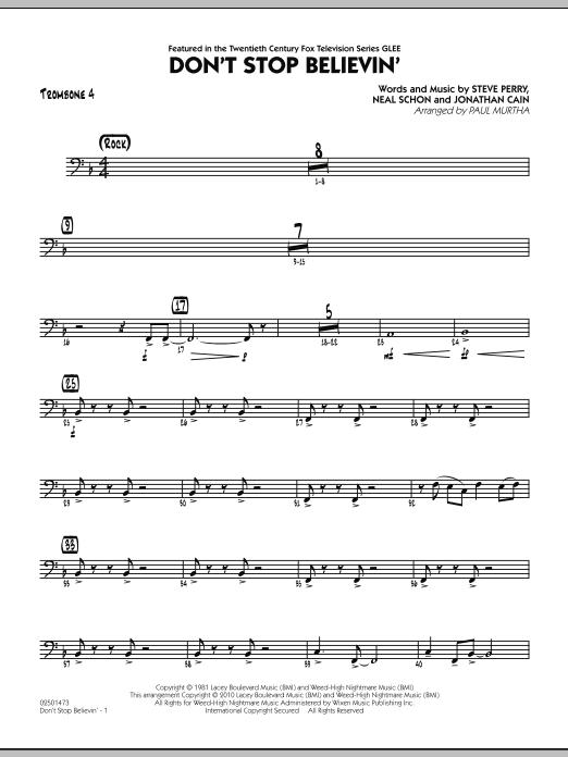 Don't Stop Believin' - Trombone 4 (Jazz Ensemble)