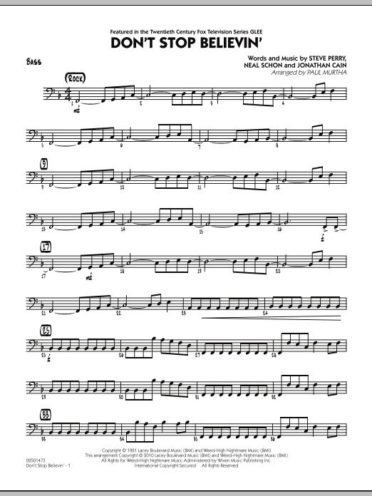 Don't Stop Believin' - Bass (Jazz Ensemble)