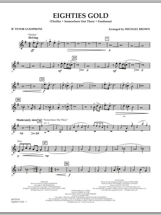Eighties Gold - Bb Tenor Saxophone (Concert Band)