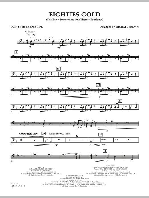 Eighties Gold - Convertible Bass Line (Concert Band)