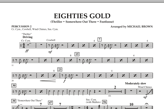 Eighties Gold - Percussion 2 (Concert Band)