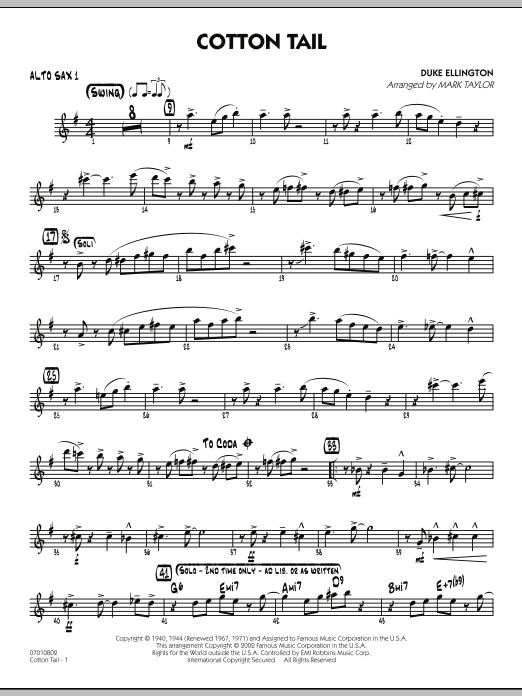 Cotton Tail - Alto Sax 1 (Jazz Ensemble)