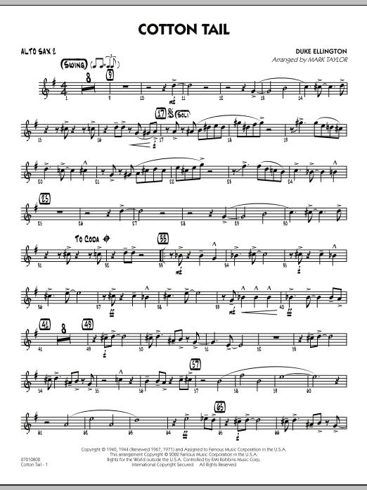 Cotton Tail - Alto Sax 2 (Jazz Ensemble)