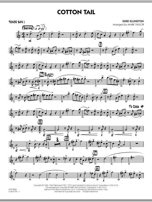 Cotton Tail - Tenor Sax 1 (Jazz Ensemble)