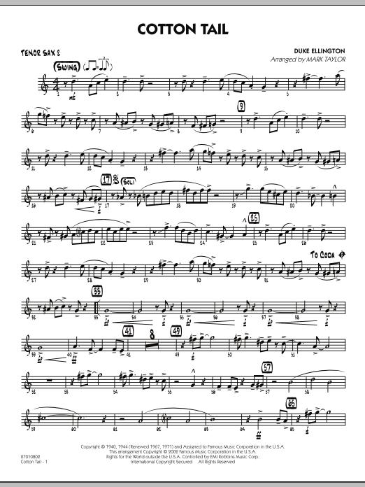 Cotton Tail - Tenor Sax 2 (Jazz Ensemble)