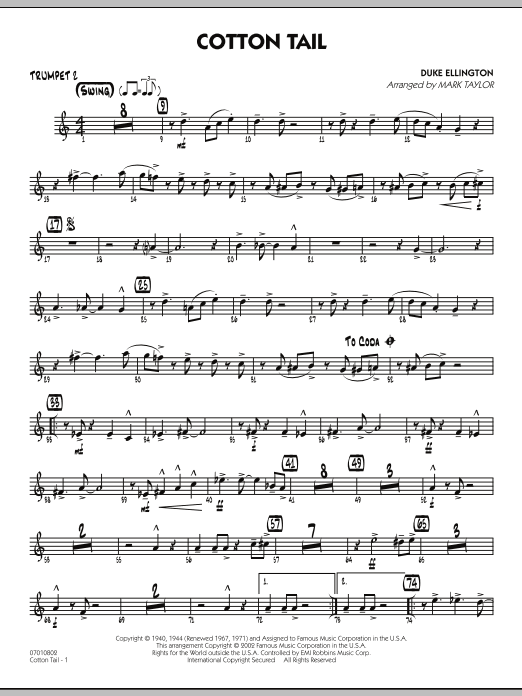 Cotton Tail - Trumpet 2 (Jazz Ensemble)