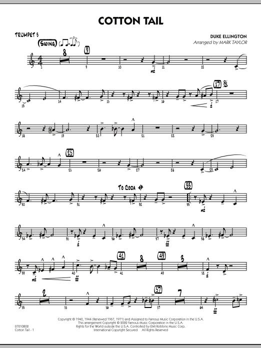 Cotton Tail - Trumpet 3 (Jazz Ensemble)